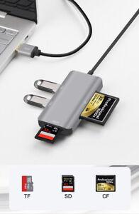 USB 3.0 SD SDHC CF Compact Flash TF MicroSD U Disk Card Reader For MACBOOK PC
