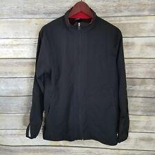 Starter Size Small Mens Track Jacket Black Lightweight Full Zip Athletic Pocket
