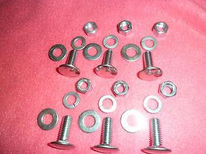 64 65 66 67 68 69 70 Dodge Dart Bumper Bolts Package 6 w bolt washers locks NEW