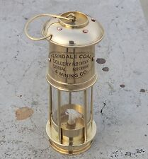 Vintage Brass Miner Lamp Handmade Ship Lantern Oil Kerosene Lamp Nautical Gift