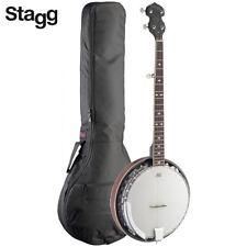 Stagg 5-String BJM30 DL Bluegrass Deluxe Banjo with Metal Pot + Padded Gig Bag