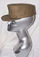 VINTAGE SPANISH MILITARY HAT CAP SMALL SIZE KHAKI GREEN