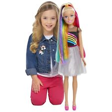 "Barbie 28"" Rainbow Sparkle Best Fashion Friend Doll (Blonde Hair) Posable  FUN!"