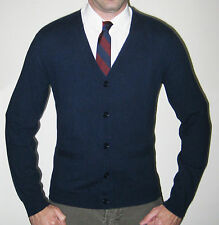 Ralph Lauren RLX 100% Cashmere Medium Navy Cardigan - $425 MSRP - Size Medium