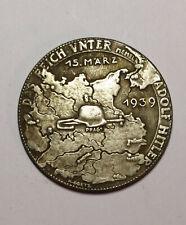 Piece Hitler 1939 5RM Reichsmark Coin Reich Protektorat Boheme WW2 German