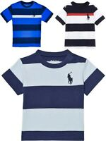 Ralph Lauren Baby boys Big Pony rugby stripe t shirt 3/24 genuine factory outlet