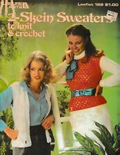 2-Skein Sweaters to Knit & Crochet | Leisure Arts 169