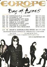 Europe - Bag of Bones UK Tour Dates - Full Size Magazine Advert