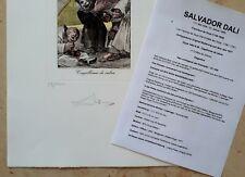 "Salvador Dali (1904-1989) Signierte Original Radierung # 896 ""GOYA 49"" # 33/200"