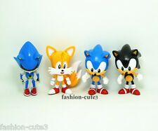 Set of 4 pcs Sonic the Hedgehog PVC action figures Anime Toys Shadow Tails Gift