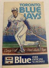 Vintage 1988 Toronto Blue Jays Baseball Calendar Schedule Booklet Labatt Blue