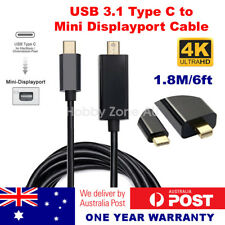 USB-C USB 3.1 Type C to Mini DisplayPort DP Male Cable 4K@60Hz 1.8m MacBook