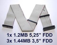 "1.44MB 1.2MB FDD FLOPPY CABLE FLOPPYKABEL 3.5"" 5.25"" DISKETTEN LAUFWERK 58CM"
