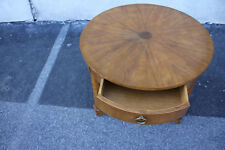Gorgeous French Empire Round Table With One Drawer