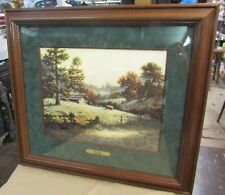 """Larry Dyke Signed Numbered Framed Matted Lithograph """"Piney Woods"""" COA 1870/2500"""