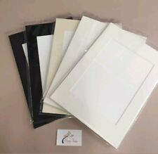 """8x Professional Picture Framing Mat Boards 8x10"""" with 6x8"""" Window Mount Kits"""