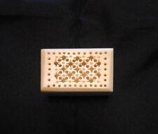 Trinket Box Vintage Ornate Carved Celluloid Bakelite Ivory Mini Pill Treasure