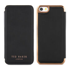 OFFICIAL TED BAKER SS16 SHAEN Black Rose Gold Folio Case for iPhone 5S / 5