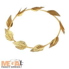 Gold Laurel Leaf Roman Greek Headpiece Toga Goddess Adult Fancy Dress