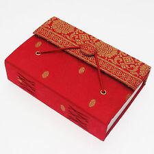 Fair Trade Handmade Small Red Sari Journal Notebook - 2nd Quality