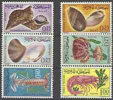 Timbres Faune marine Maroc 488/93 ** lot 15222