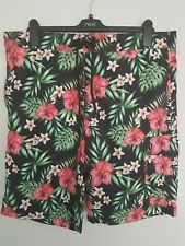 Bnwot Mens Floral Swim Shorts Primark size large great condition