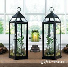 "2 Large 24"" Tall Black Malta Candle holder 2' Lantern light wedding centerpiece"