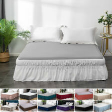 "14' 16"" 18' Drop Bed Skirt Dust Ruffle Twin Full Queen King Size 13 Colors Us"