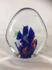 Murano Art Glass Aquarium Style Paperweight (ref Y115)