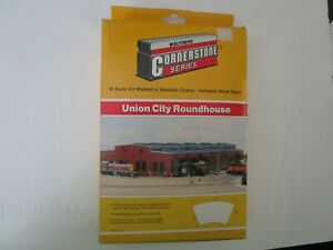 Walthers 933-3202 N Scale Union City Roundhouse Kit NIB Train Layout