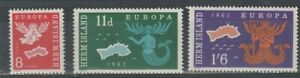 HERM ISLAND 1962 EUROPA SET OF ALL 3 COMMEMORATIVE STAMPS MNH