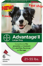 New Advantage Ii Flea Treatment and prevention Large Dog For 21-55 Pounds- Dog