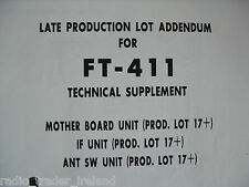Yaesu Ft-411 (Genuino Suplemento técnico sólo).............. radio_trader_ireland.