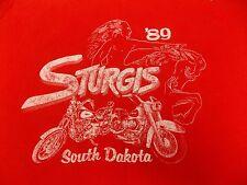 VTG 80s Harley Davidson Sturgis 89 Black Hills T shirt Made in USA Cotton 80's