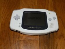 Game boy advance white console AGB-001 for parts or repair