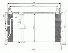 Klimakühler Kondensator Klimaanlage Kia Clarus 1996-