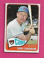 1965 TOPPS # 596 CUBS DON LANDRUM SHORT PRINT EX-MT CARD  (INV# C4189)