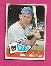 1965 TOPPS # 596 CUBS DON LANDRUM SHORT PRINT EX-MT CARD  (INV# C4189)