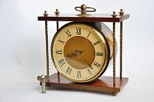 Vintage Mantel Collectible mechanical Vesna Clock USSR, Soviet desk clock,wood