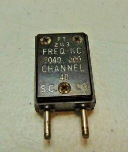 7040 KC 40 meter Ham Military Radio  FT-243 Vintage Quartz Crystal