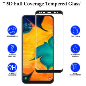 5D Anti Scratch 9H Tempered Glass Screen Protector for Samsung Galaxy A30