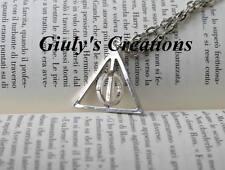 Collana Doni della Morte di Harry Potter con cerchio centrale GIREVOLE