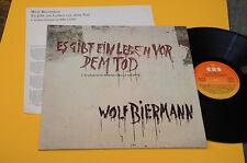 WOLF BIERMANN LP C'E' UNA VITA PRIMA DELLA MORTE 1°ST ORIG ITALY PROG 1977 NM !