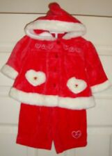 SANTA/OUTFIT~girls~FAUX/fur/TOP/PANTS! (0/3~MO) BRAND/NEW! @@ REALLY/CUTE!