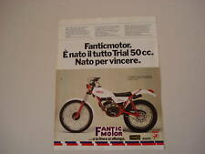 advertising Pubblicità 1979 MOTO FANTIC TRIAL 50