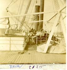 "Navire ""Edith"" Vintage print, Tirage citrate  8x9  Circa 1895  <div style="