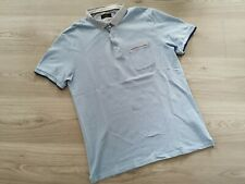 Chemise Polo Shirt ZARA Taille M L Bleu clair Slim fit