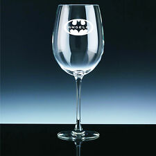 Personalised, Engraved Batman Wine Glass With Any Name