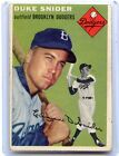1954 TOPPS BASEBALL #32 DUKE SNIDER, BROOKLYN DODGERS, HOF, 021117