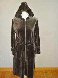 SONIA RYKIEL PARIS Brown Velour Coat / Dress w/Detachable Hood *NEVER WORN*